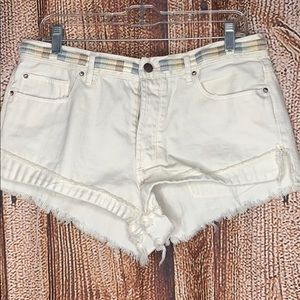 Free People White Cut Off Shorts 30
